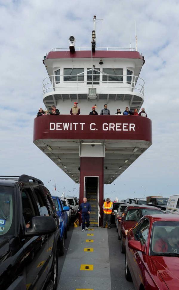 Galveston Bay in Galveston, Texas. Galveston's Bolivar Ferry, Texas ...