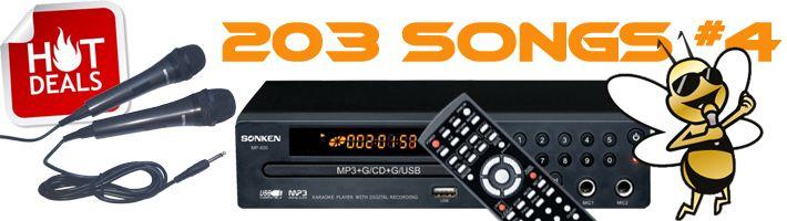 Sonken MP600 Hot Deal # 4 - 203 Songs Included!
