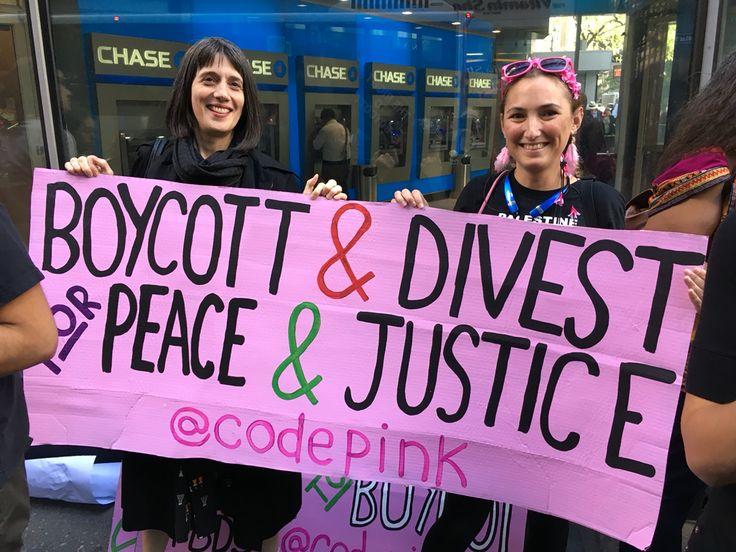 9 June 2016. #RightToBoycott protest outside Gov. Andrew Cuomo's Manhattan office