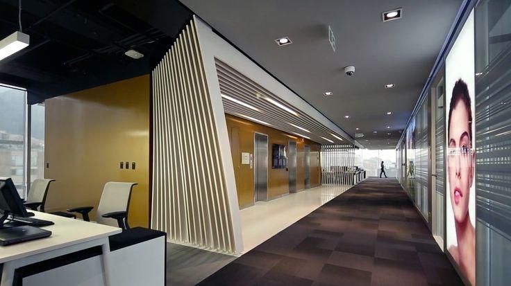 Back-lit Altos Walls made into light boxes - L´Oreal Colombia - m2r Design + Arquint