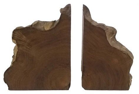 I've never seen any thing like these. Love the idea of using these rustic live edge bookends in our home library. Threshold Live Edge Wood Bookend. #rustic #bookends #affiliate