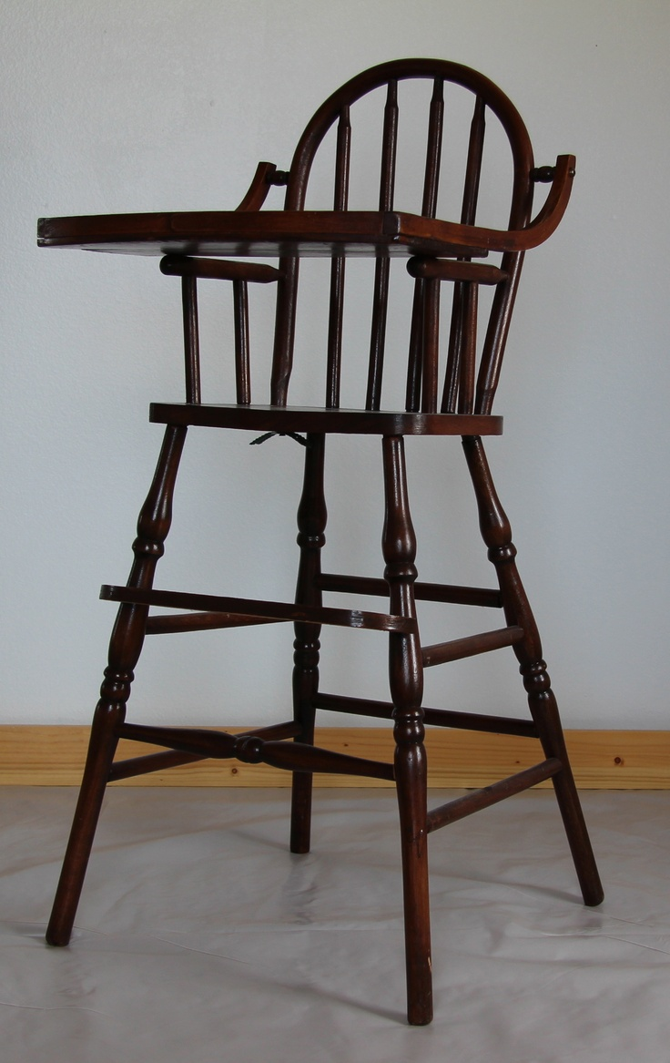 Antique high chair bentwood - Antique Infant High Chair