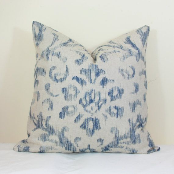 Blue And Gray Throw Pillows Part - 30: Blue Oatmeal Throw Pillow Cover 18x18 20x20 22x22 24x24 26x26 Euro Sham Blue  Lumbar Pillow 12x24