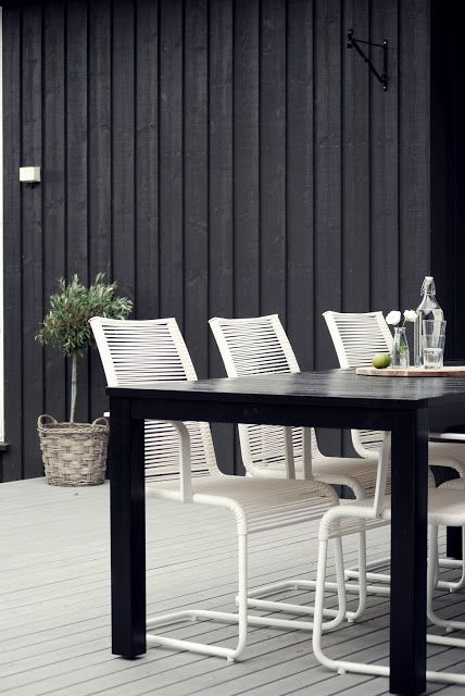 white and black table