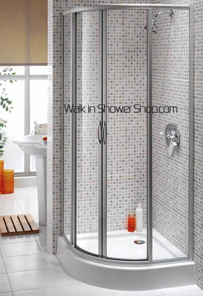 Rounded Corner Shower With Tile Bathroom Pinterest
