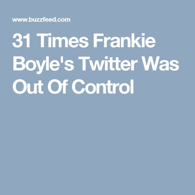 31 Times Frankie Boyle's Twitter Was Out Of Control