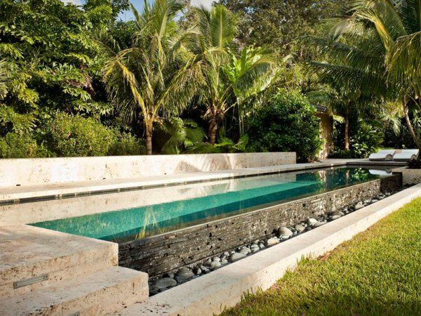 137 best jardin images on Pinterest Landscaping, Front yards and - piscine hors sol beton aspect bois