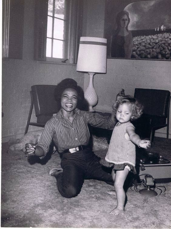 Now you know where I got my love of dance from! Groovin' with my mom ‪#‎EarthaKitt‬. ‪#‎MothersAndDaughters