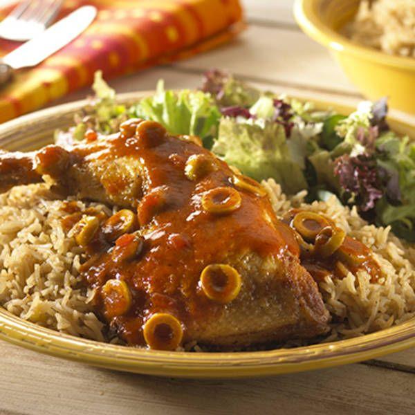 Pittige Spaanse kip. Hoofdgerecht, 4 personen
