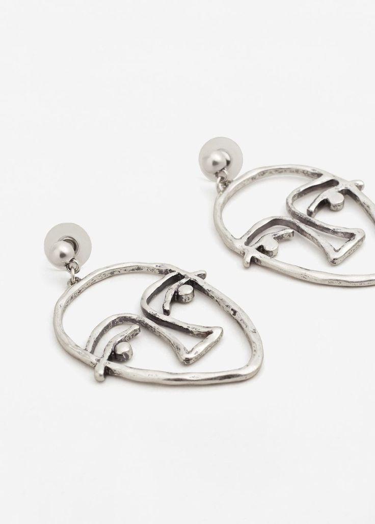 Face earrings -  Women | MANGO USA
