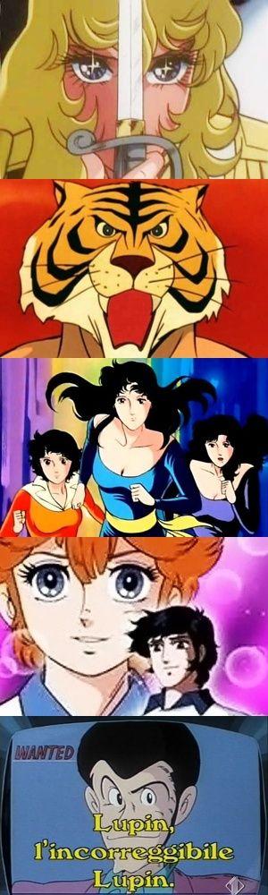 Cinque indimenticabili sigle dei cartoni animati degli anni '80.