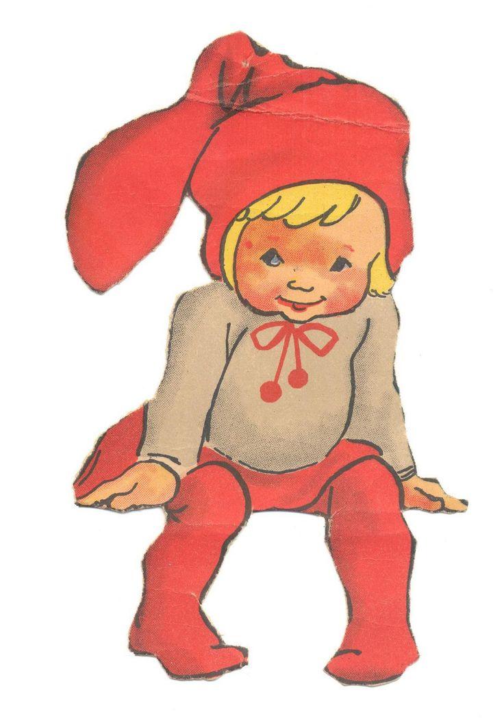 """DANISH Kravle nisser   Syv nisser fra samme ark, som jeg vil tro repræsenterer ILLAS tidligste kravlenisse-streger. Arket har titlen """"Dekorationsnisser"""", ligesom adskillige andre af hen-des ark fra omkring 1950. ENGLISH Crawl gnome from ILLA's earliest kravle nisse {crawl pixie} Sheet titled """"decorative gnomes"""", like other how-to-sheets from the late 40s."""