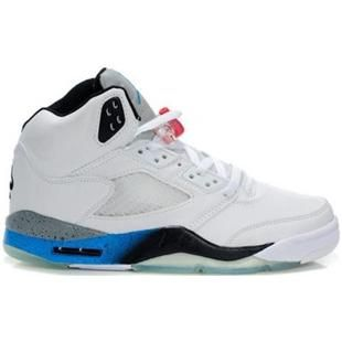 Air Jordan 5 (V) White Black True Blue Cement, cheap Jordan If you want to  look Air Jordan 5 (V) White Black True Blue Cement, you can view the Jordan  5 ...