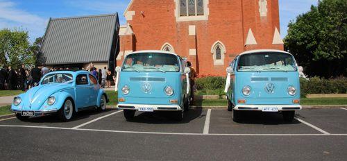 NIce wedding cars! All matching and perfect #VW #bugnbus #kombilove