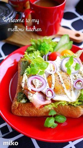 朝食やランチに♪ガパオ風トースト