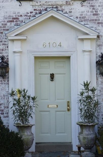 Love the soft mint door!