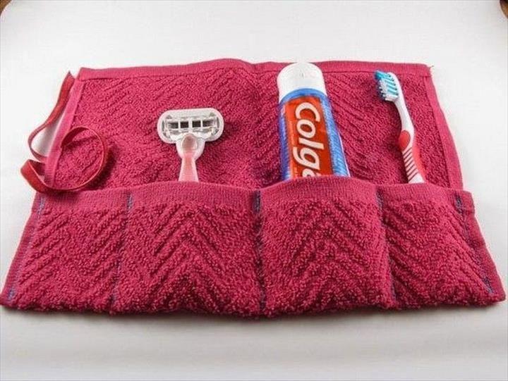 DIY Waschlappen Reisetasche – 16 DIY Brilliant Towel Crafts – Kreative Ideen