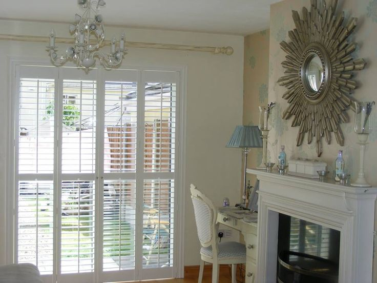 Paris Inspired Shabby Chic Plantation Shutters Installed And Supplied By  Shutters Of Dublin   Sliding. French Doors PatioPlantation ...