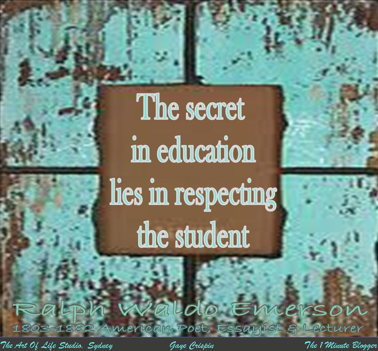 essay about education by emerson Questions for discussion 1 i believe that the defining characteristics of an ideal education according to emerson is a guiding way of education, having the teachers work with each student individually and have the teachers inspire the students to think for themselves by giving thought-provoking questions and encouraging them to support their own thoughts.
