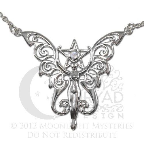 13 best pentagrams images on pinterest wicca wiccan and witch craft sterling silver faerie pentacle pentagram necklace with rainbow moonstone by dryad design aloadofball Choice Image