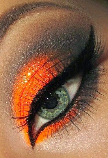 Fall Eye Makeup: How to apply orange eye shadow? - Trend To Wear