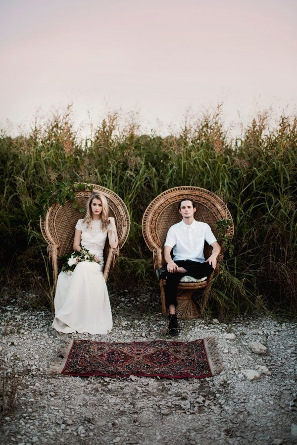Rustic outdoor elopement shoot | Image by A Sea of Love