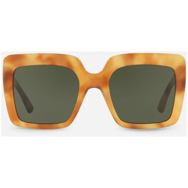 Dolce & Gabbana Square Acetate Sunglasses ($210) ❤ liked on Polyvore featuring accessories, eyewear, sunglasses, havana camel, square sunglasses, dolce gabbana eyewear, acetate sunglasses, dolce gabbana glasses and square glasses