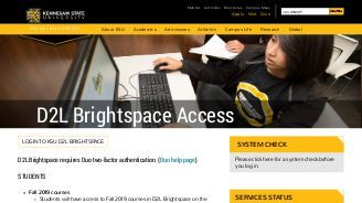 kennesaw state university d2l