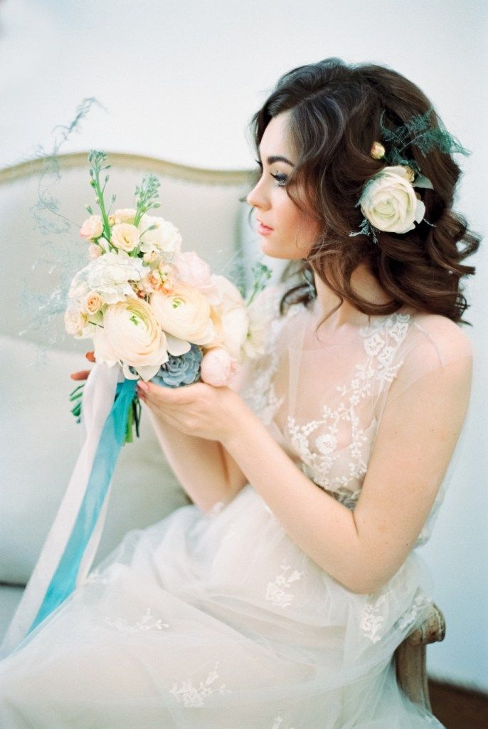 Акварельная весна: стилизованная съемка образа невесты - Weddywood