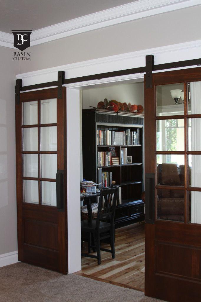 best of the web: barn doors on a budget. Glass-paned doors via @basincustom.com