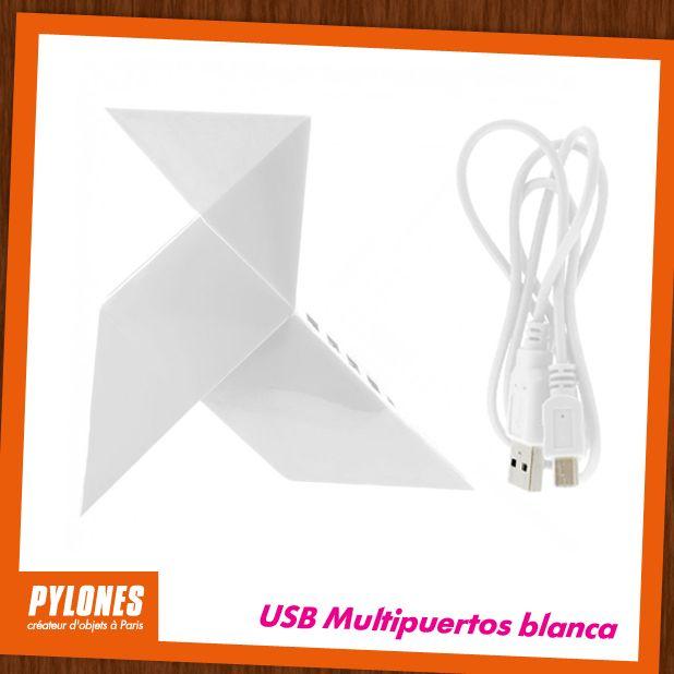 USB  Multipuertos blanca. @pylonesco #pylonesco