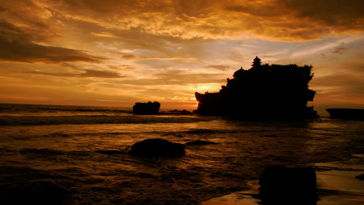Sunset view at Tanah Lot, #Bali