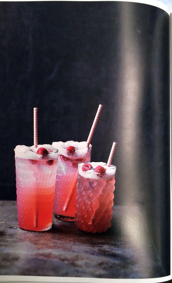 Rhubarb, raspberry and gin fizz  (Tara Fisher)