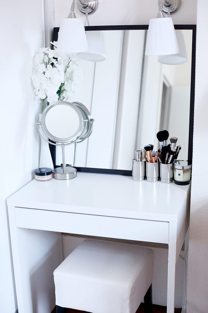 50 Elegant Vanity Table Design The Urban Interior Dressing Table For Small Space Beauty Room Small Space Diy