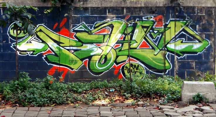 Mural hijau kota Bandung kreatif