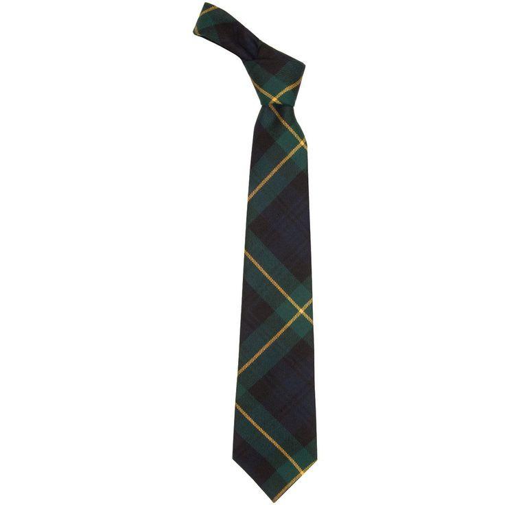 Gordon Clan Modern Tartan Tie - Front