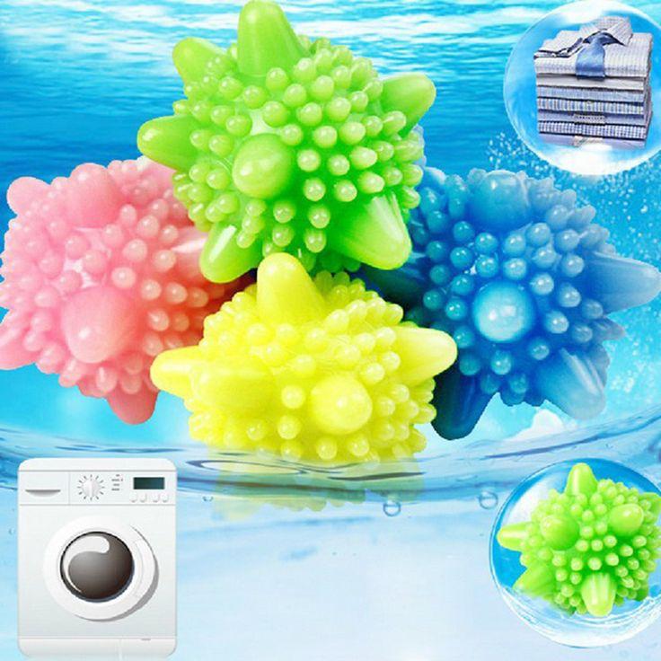 1 unids conveniente claro de lavandería bolas de bolas que se lavan ropa herramienta de limpieza PVC moda cuidado Personal bola de Color al azar