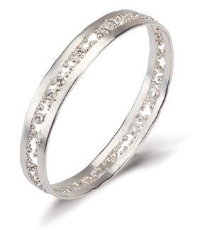 diamond cut bangle