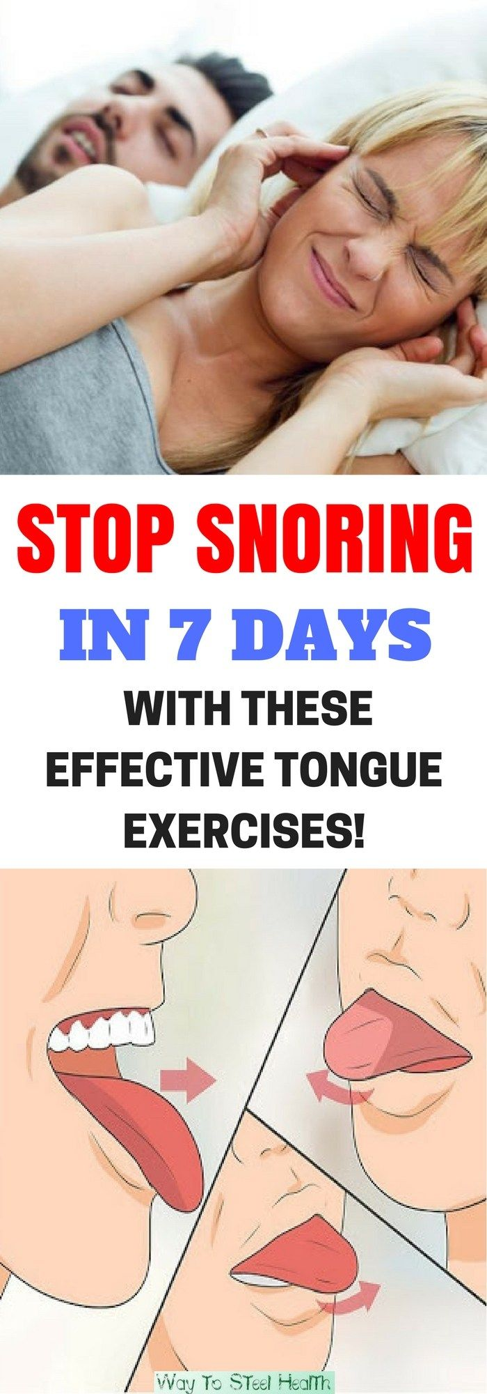 If your partner is willing to wear earplugs while you two sleep because you snore too loudly, you're quite lucky. But for those who aren't as fortunate and their partner is constantly complaining, these exercises may offer hope.