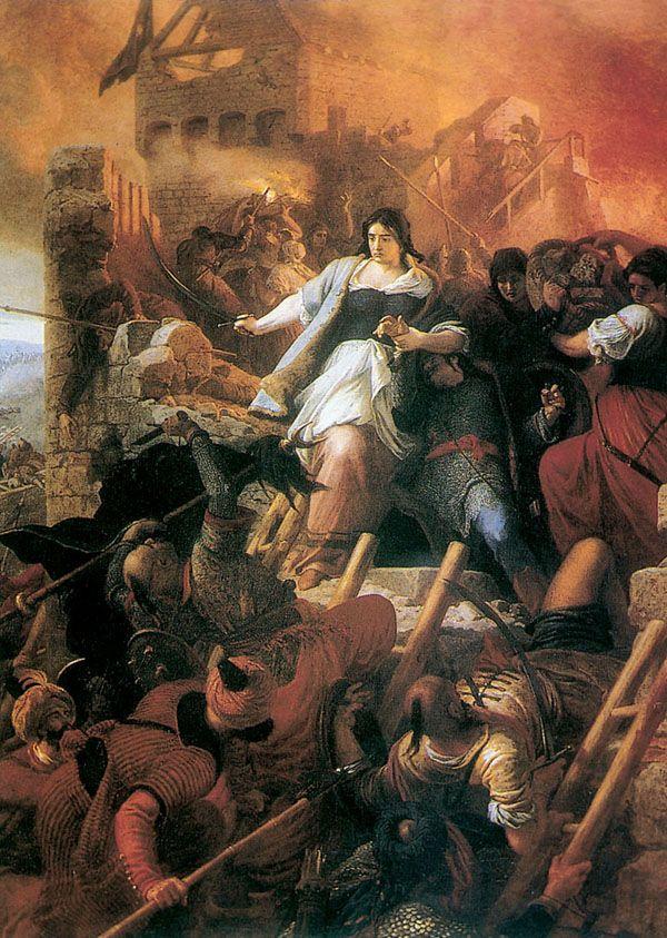Székely Bertalan: Egri nők- Szekely women were warriors too. I am actually a Szekely woman too!