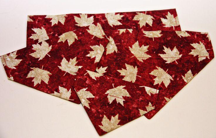 Canadian Maple Leaf Dog Bandana, Red Dog Bandana, No Tie Bandana by BonzaiGiftsPetNanny on Etsy