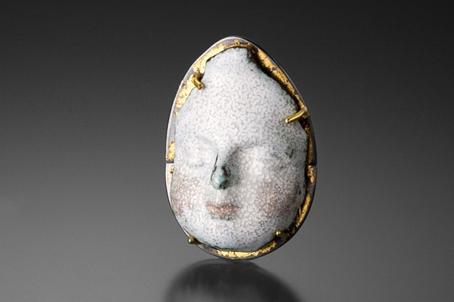 Stephanie Tomczak:Angelito, a Mourning Portrait, copper, enamel sterling, gold