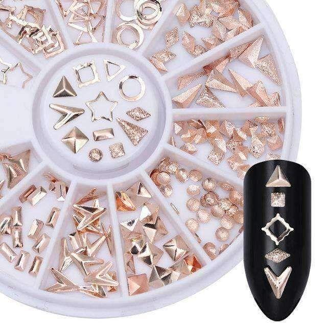 Produkttyp: Strass & Dekoration Gewicht: 26.5g Menge: 1 Box Modellnummer: AXP40331 Markenname: Born Pretty Größe: Box Durchmesser: Ca. 6cm Material: Niet