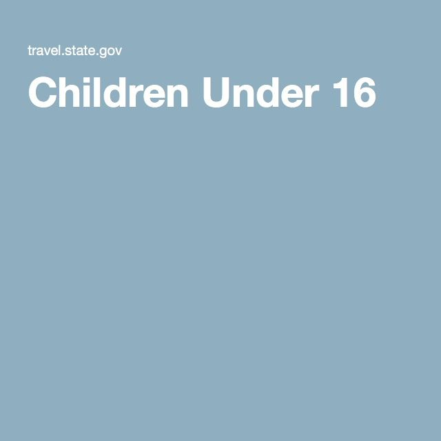 Applying for a Passport: Children Under 16. (Visit this website for King County passport application locations: http://www.kingcounty.gov/courts/district-court/passport.aspx)