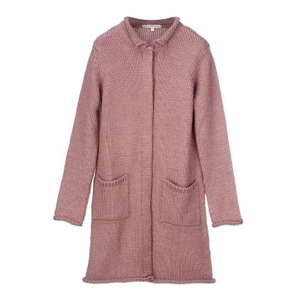 KNITTED OVERCOAT VINTAGE ROSE #lautrechose #fashion #blue #trend #FW2013