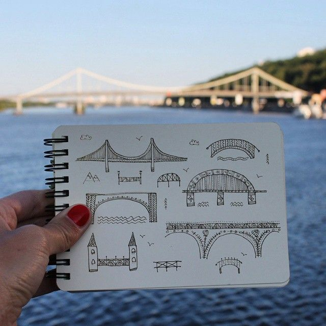 Day 62 of #The100DayProject Bridge. #100DaysOfDrawingThingsInDifferentVariations #notabook