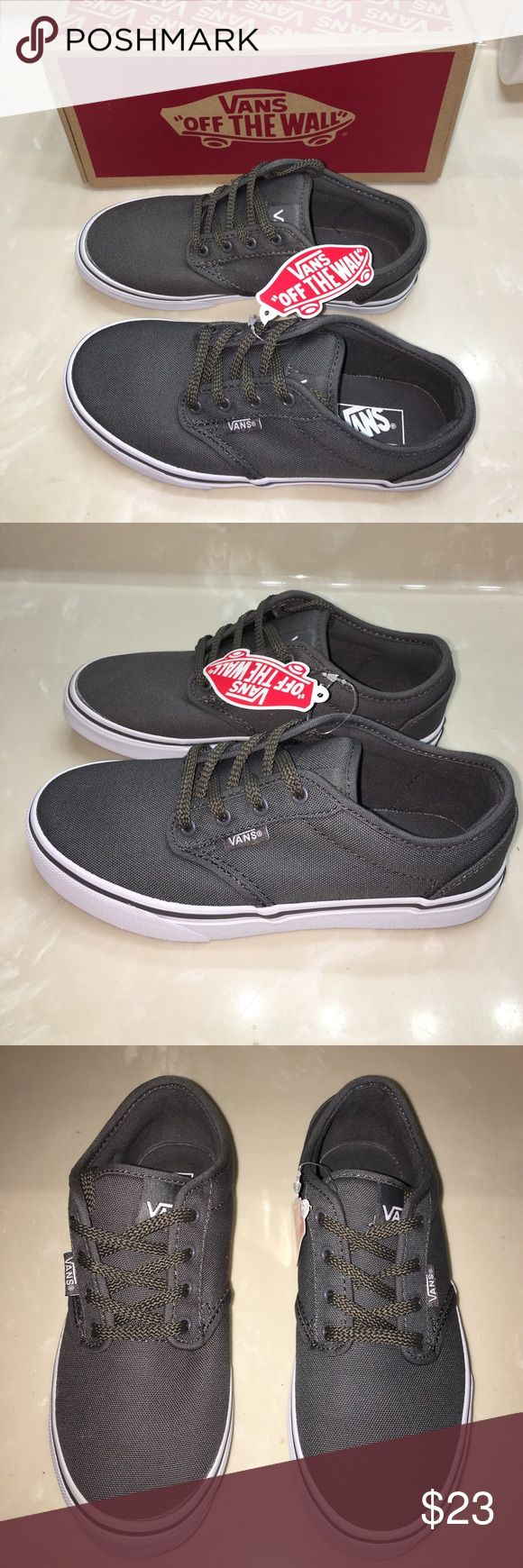 New in box boys gray Vans tennis shoes sneakers 3 New in box boys gray Vans tennis shoes sneakers 3. Price is firm as they are brand new please no offers Vans Shoes Sneakers