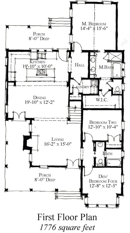 Historic Style House Plan 73855 with 4 Bed, 3 Bath