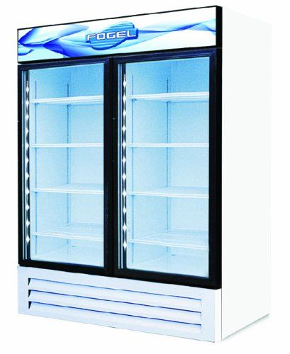 Hinged Glass Door Freezers, 2 Doors and 4 Shelves, 23 Cubic Feet Commercial Refrigeration. Durable, reliable and long lasting.. Powerful Refrigeration, Industrial Grade. Made in the USA with Finest Materials. Product Warranty: One years parts and labor, additional four year compressor warranty.  #Fogel #BISS