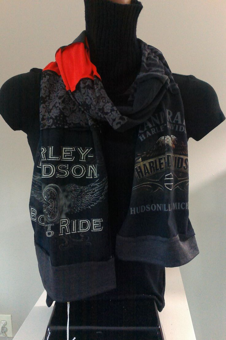 SOLD - ITEM #HD01:  Harley Davidson scarf. Measures approx. 84 in long.